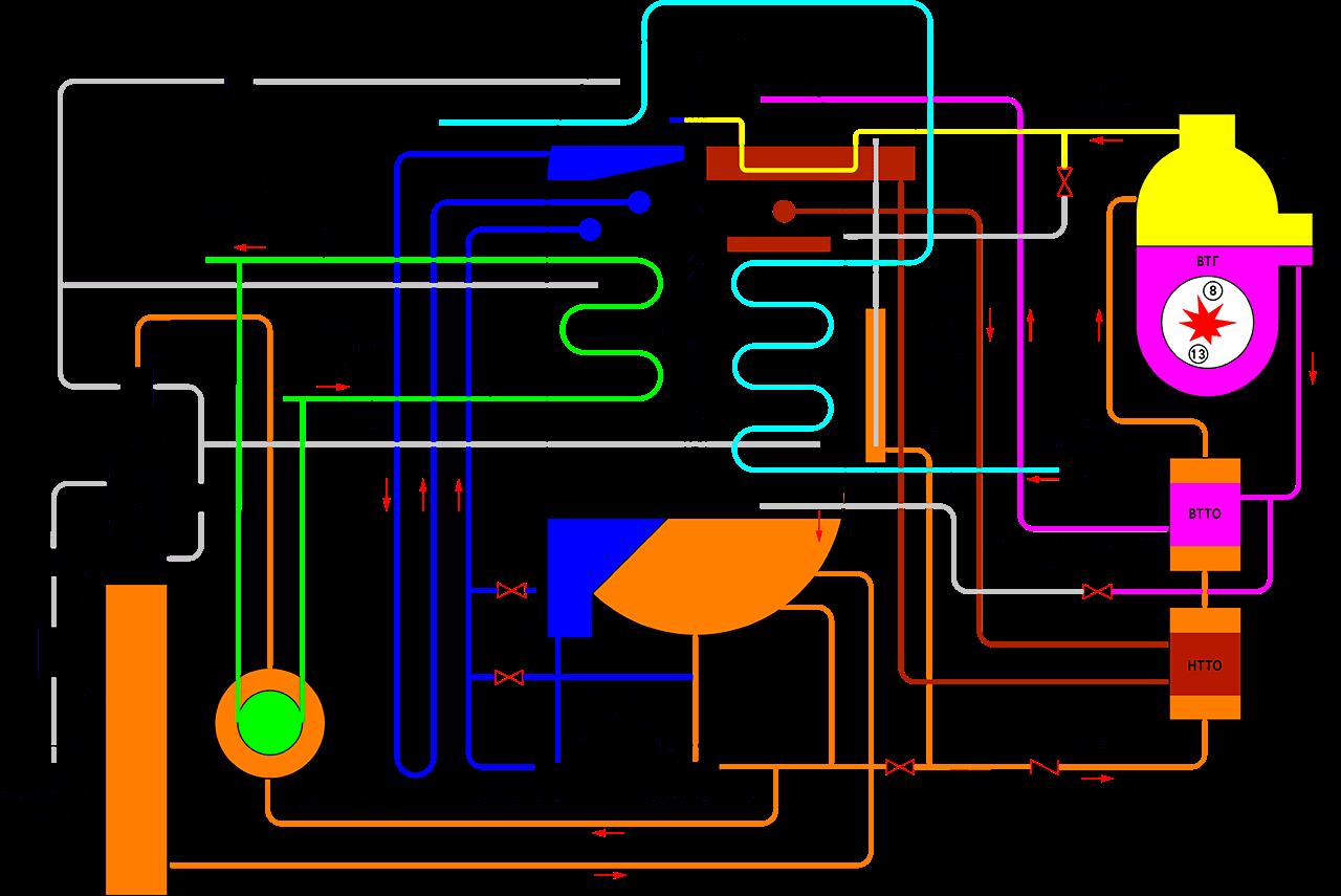 схема абхм hope deepblue прямого горения, схема режима охлаждения